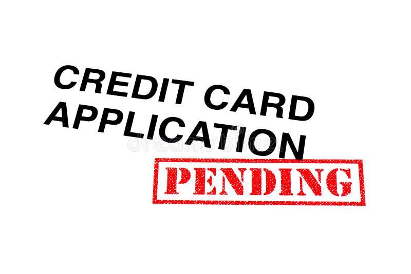 Hangende Creditcardtoepassing stock foto