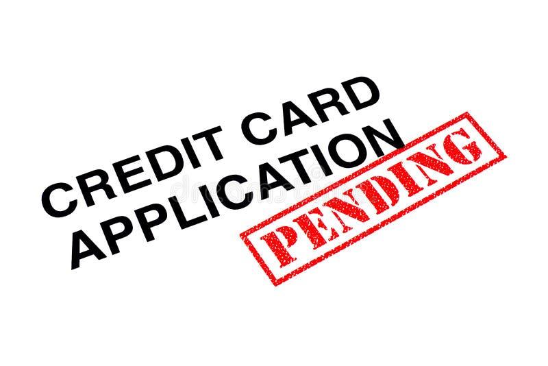 Hangende Creditcardtoepassing royalty-vrije stock foto's