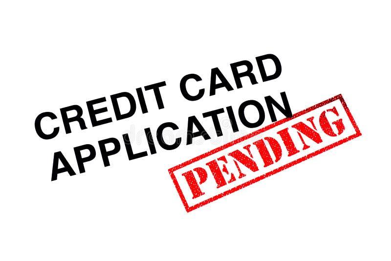 Hangende Creditcardtoepassing royalty-vrije stock afbeelding