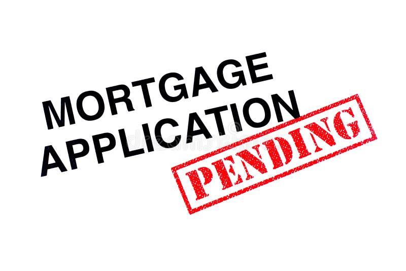 Hangende hypotheektoepassing stock afbeeldingen