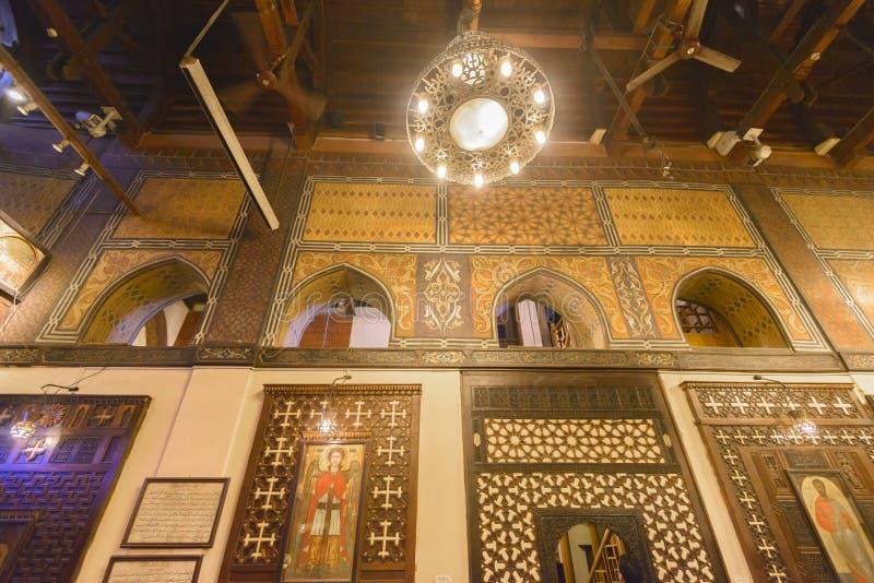 Hangende Kerk van Koptisch Kaïro, Egypte royalty-vrije stock foto