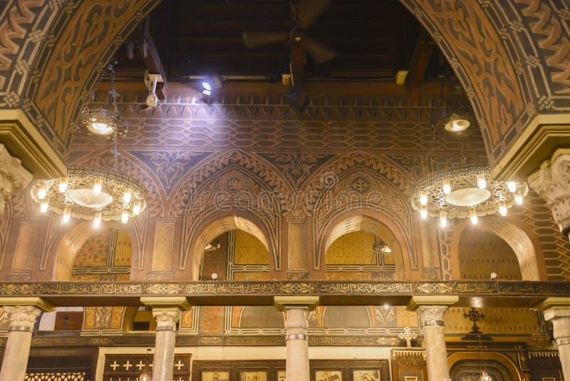 Hangende Kerk van Koptisch Kaïro, Egypte royalty-vrije stock foto's