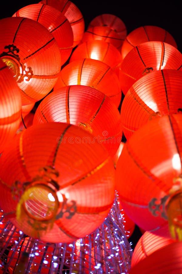 Hangende Rode Lantaarn stock foto