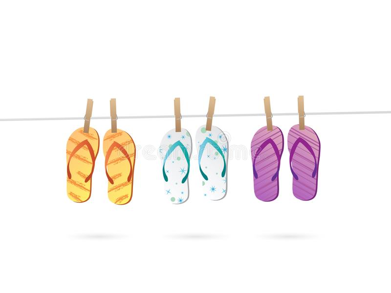 Hangende Sandals-Illustratie vector illustratie