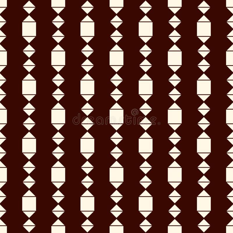 Hangende slingerachtergrond Het motief van de kristaltegenhanger Etnisch en stammen naadloos patroon met ruiten en diamanten vector illustratie