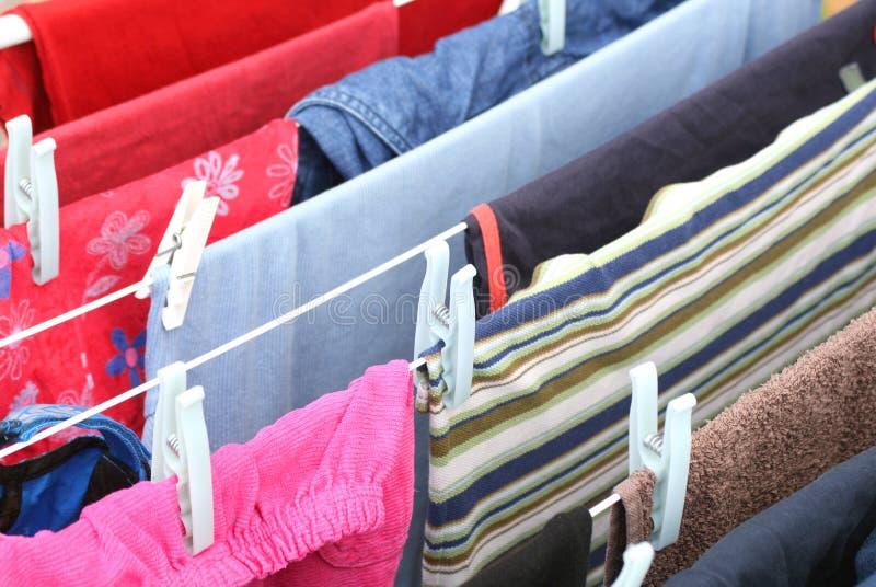 Hangende wasserij stock foto's