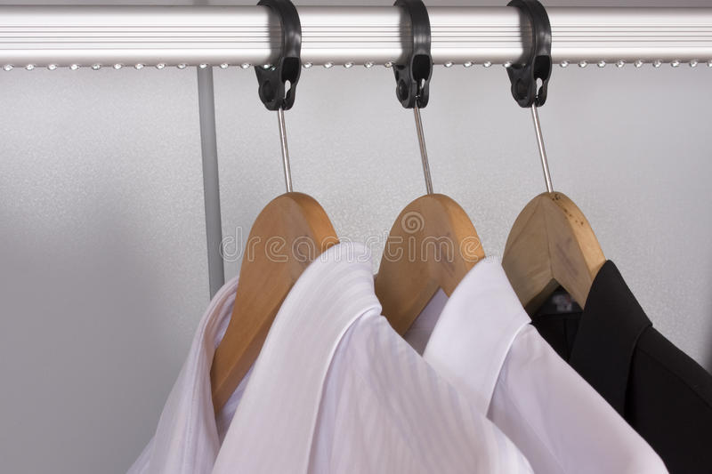 Download Hanger at  hotel stock photo. Image of house, bedroom - 25589112