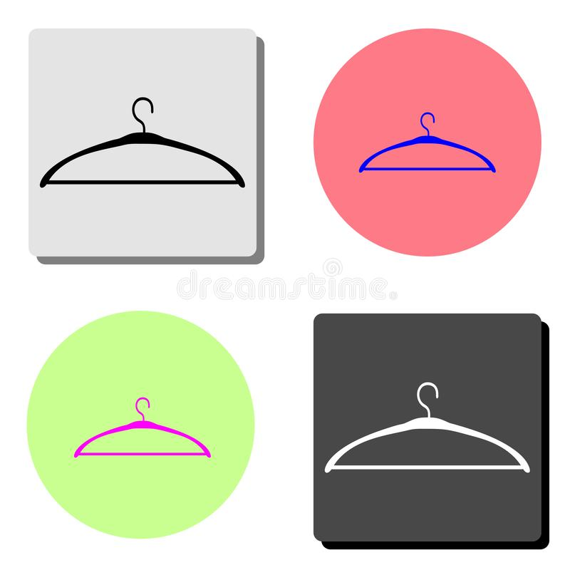 hanger Icône plate de vecteur illustration libre de droits