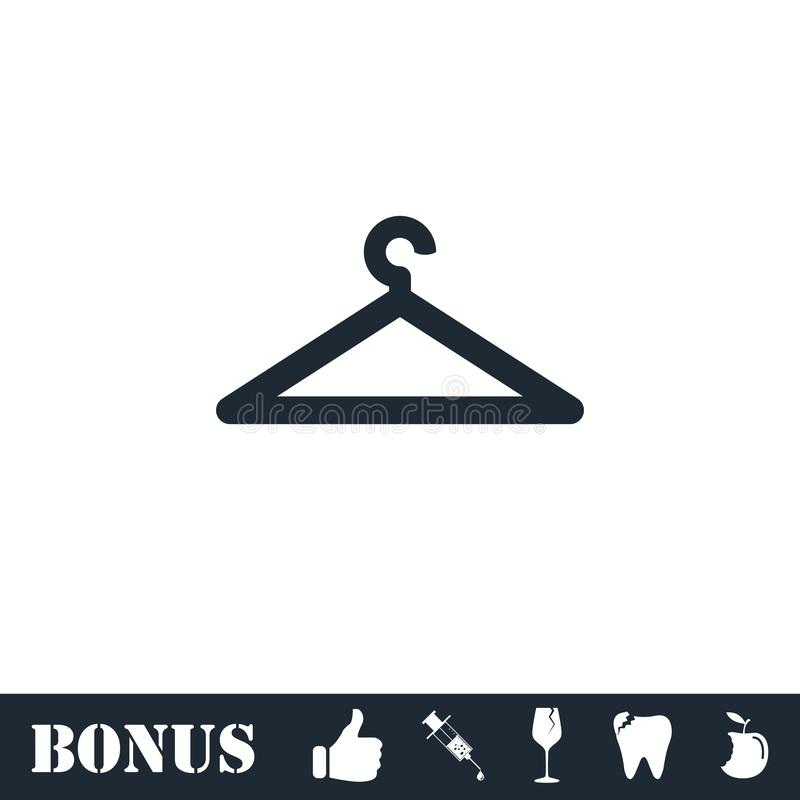 Hanger icon flat royalty free illustration