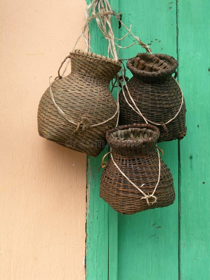 Hanging baskets royalty free stock photo