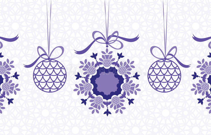Download Hanging baubles stock vector. Image of unique, snowflake - 16178355