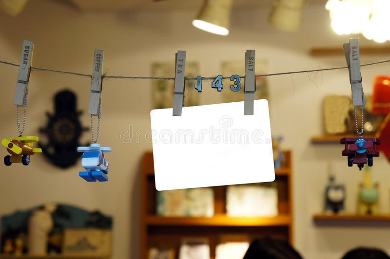 Download Hanging blank sign post stock photo. Image of paper, clip - 24370204