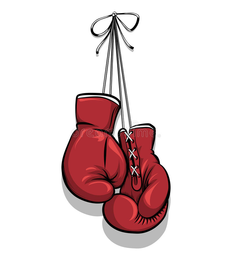 Hanging Boxing Gloves Vector Stock Vector Image 64556288