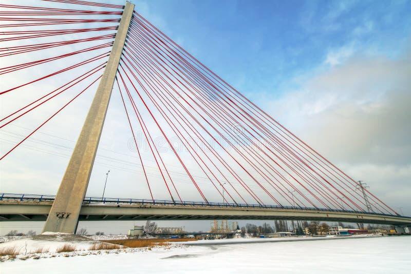 Download Hanging bridge in Gdansk stock image. Image of landscape - 23535505