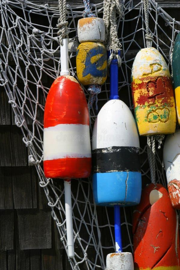 Hanging Buoys in Rockport, Massachusetts royalty free stock photo