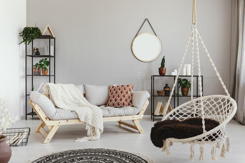Hanging chair stock images download 4 597 royalty free - Hanging chair living room ...
