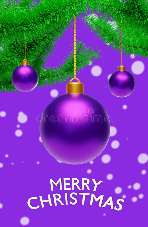 Free Hanging Christmas Balls With Greetings 3d Rendering Royalty Free Stock Photography - 112187127