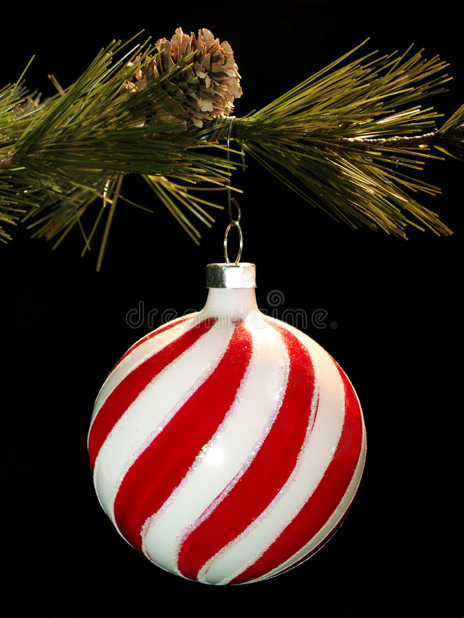 Hanging Christmas ornament stock image