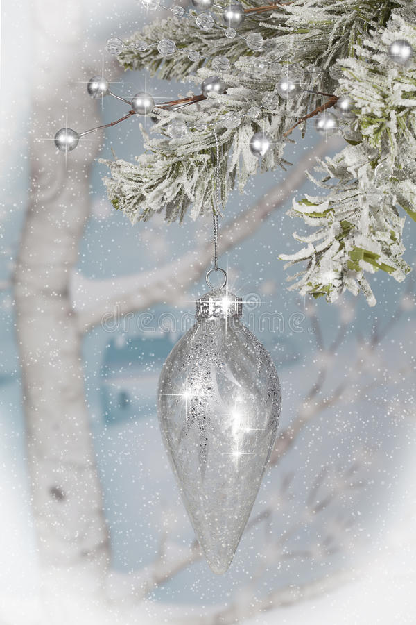 Hanging Christmas Ornament royalty free stock photos