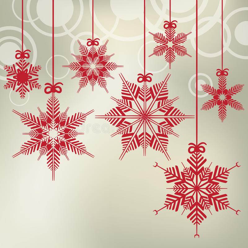 Download Hanging Christmas Snowflakes Stock Vector - Image: 27703406