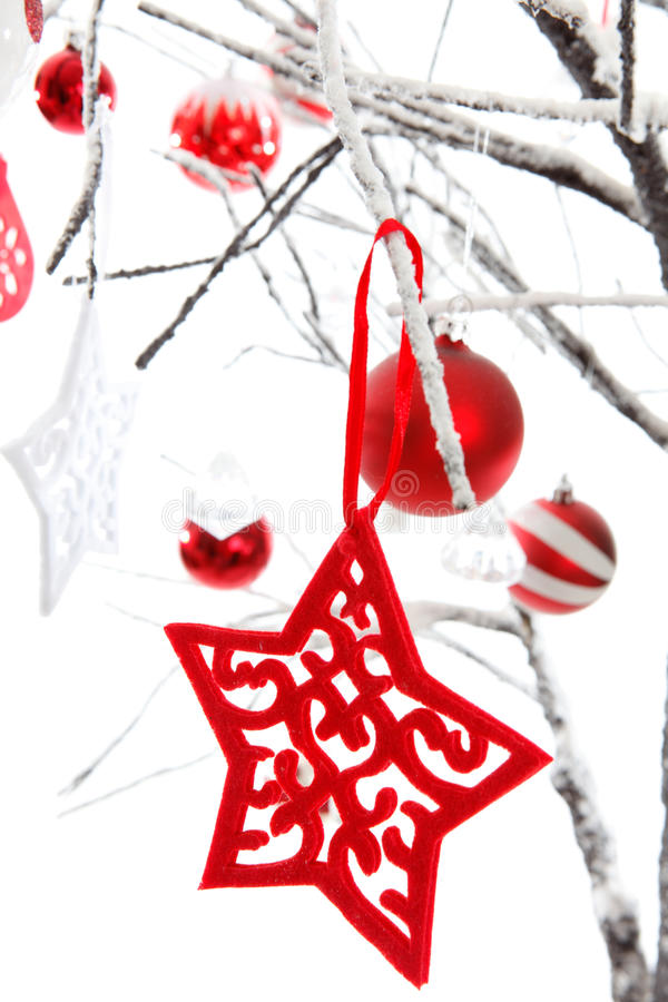 Free Hanging Christmas Stars Baubles Royalty Free Stock Photo - 16697355