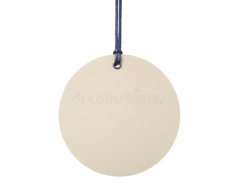 Hanging Circular Tag stock photo