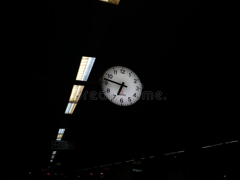 Hanging clock stock image
