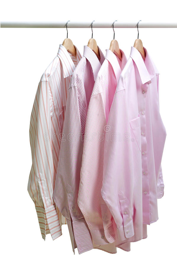 Hanging clothes stock photo