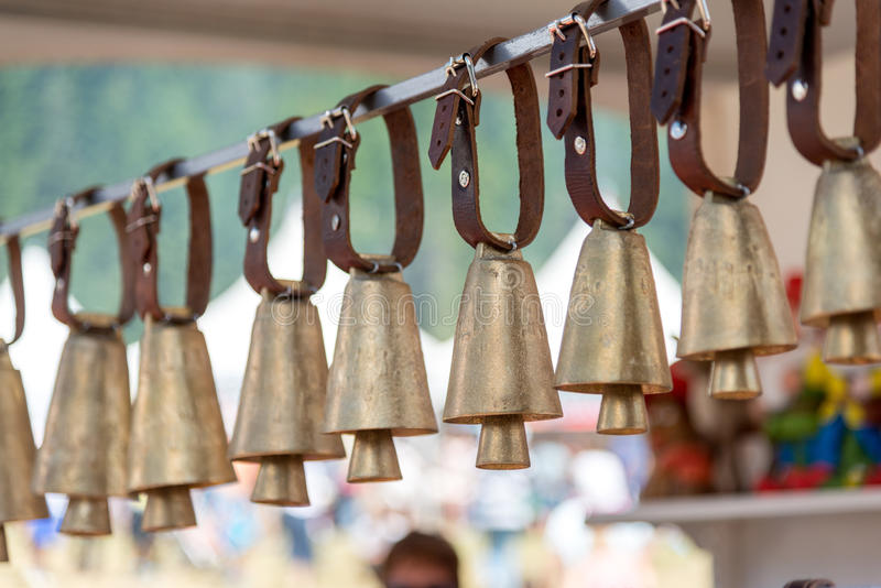 Hanging cow/sheep bell royalty free stock images