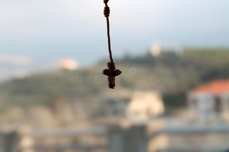 Hanging Cross royalty free stock image