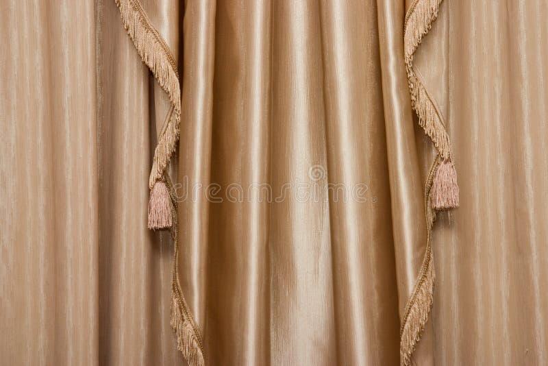 Hanging curtain stock image