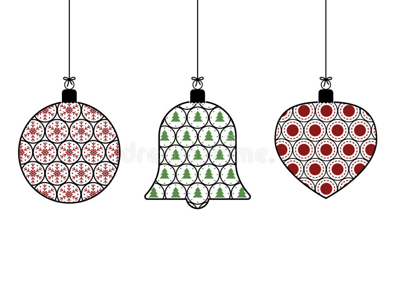 Download Hanging decorations stock vector. Image of xmas, holiday - 7051206