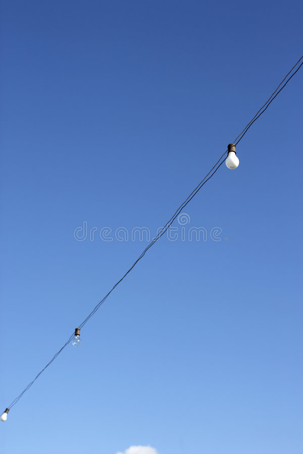 Hanging decorative christmas lights royalty free stock images