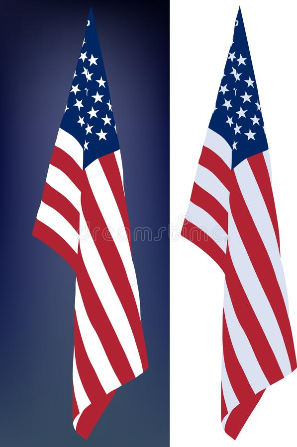 Hanging down flag stock images