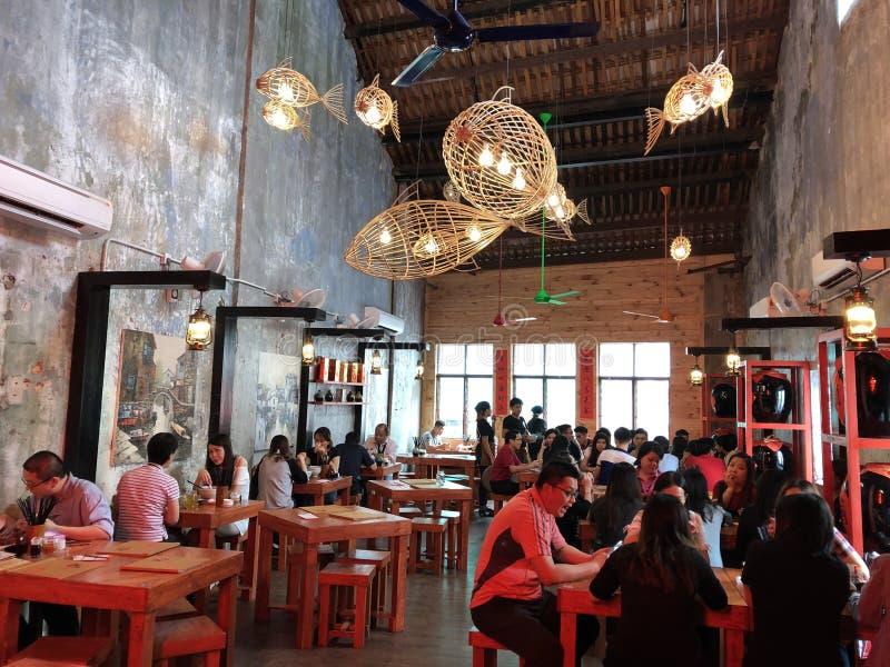 Hanging Fish Lantern at Petaling Street royalty free stock image