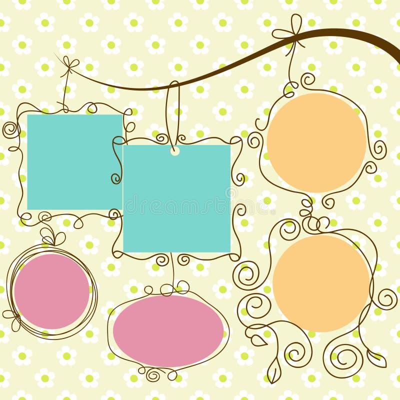 Download Hanging frames stock vector. Illustration of blank, photo - 20736708