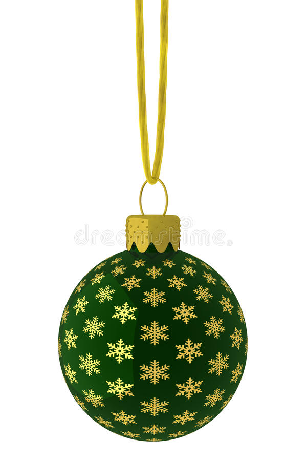 Download Hanging Green And Gold Snowflake Ornament Royalty Free Stock Photography - Image: 11212857