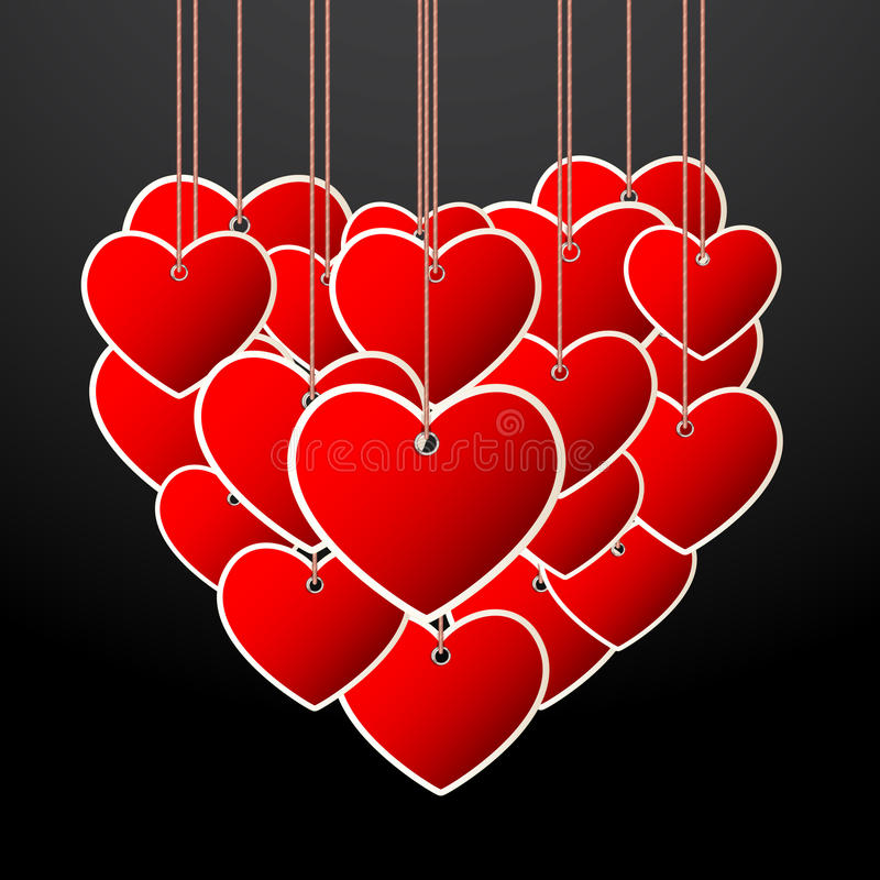 Hanging Heart Stock Photography