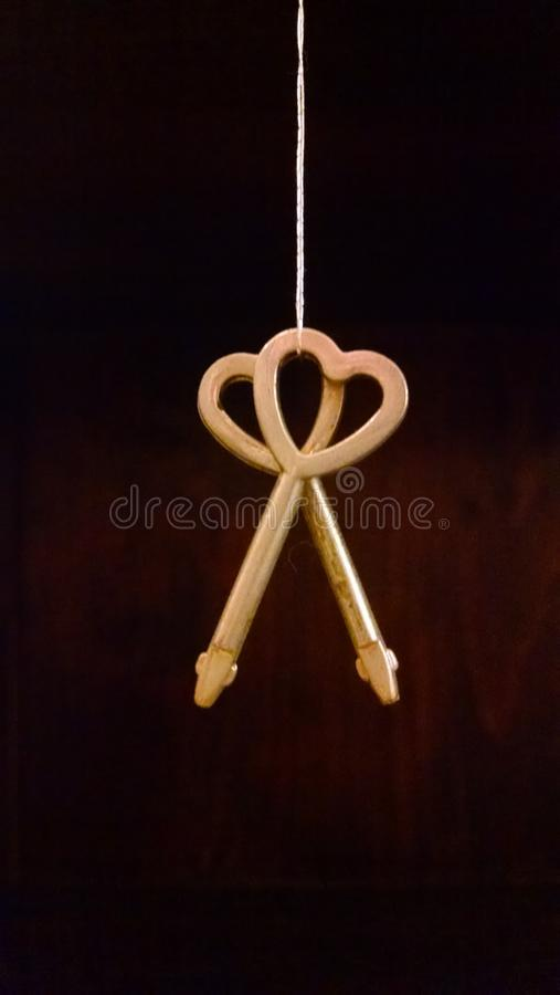 Hanging heart keys