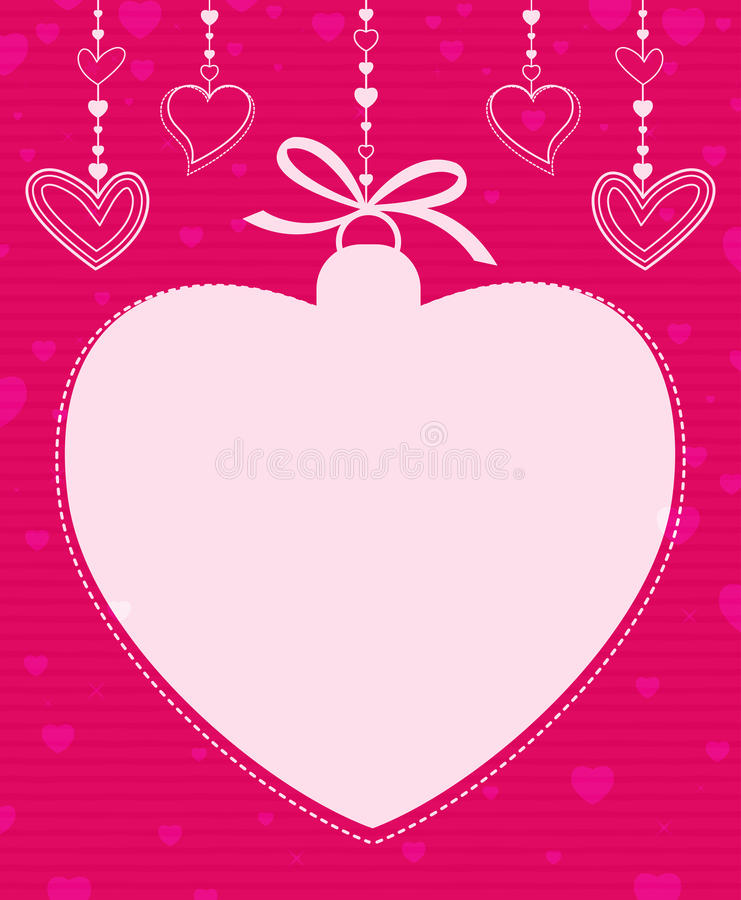 Hanging Heart Shape Royalty Free Stock Photos