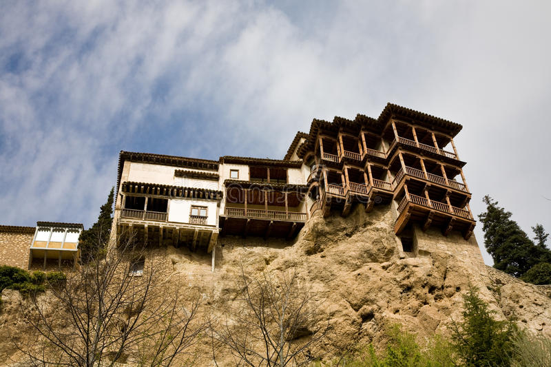 Hanging houses, Cuenca stock photos