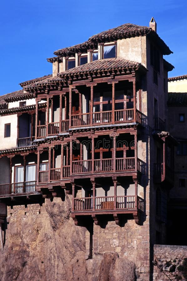 Download Hanging Houses, Cuenca, Spain. Stock Image   Image Of Attraction,  Civil