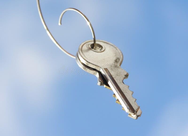 Hanging key stock photos