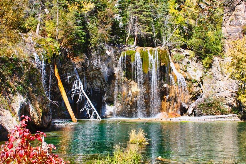 Hanging Lake in Colorado stock photos
