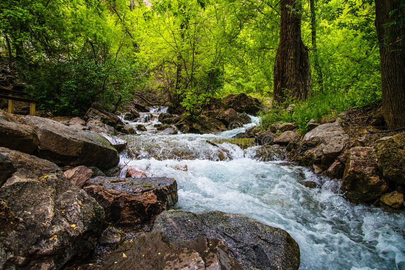 Hanging Lake Stream in Colorado stock images
