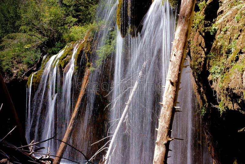 Hanging Lake Waterfalls Detail royalty free stock photography