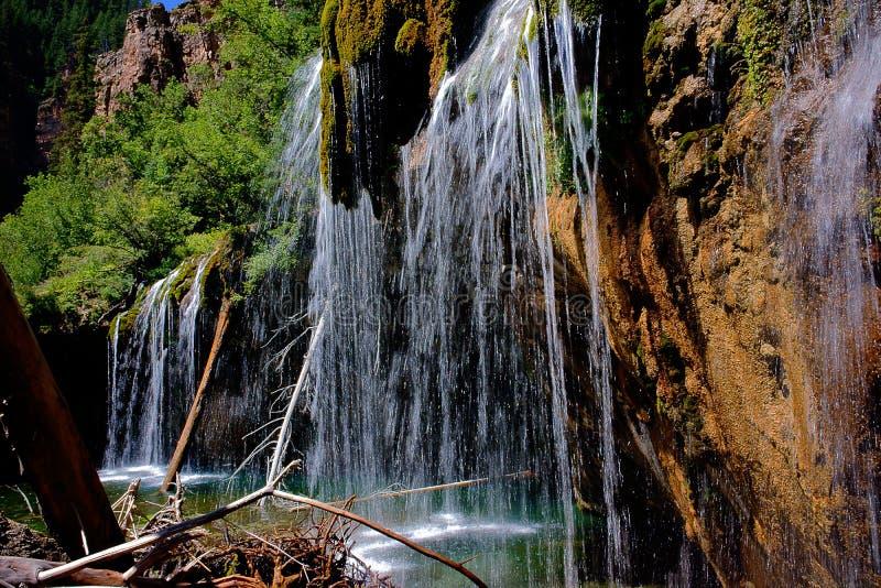 Hanging Lake Waterfalls Details royalty free stock photography