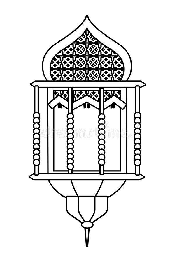 Hanging lamp icon black and white vector illustration