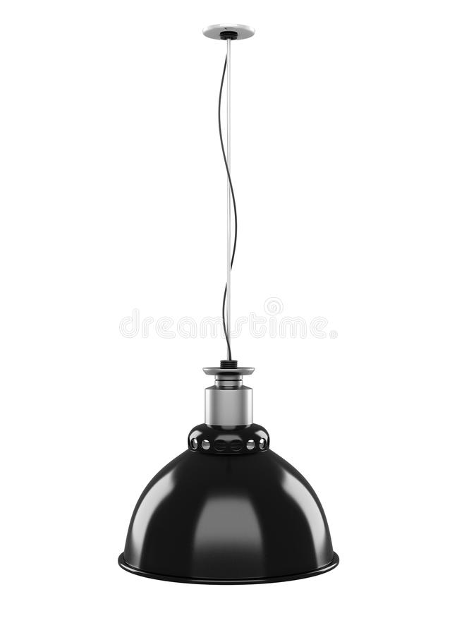 Free Hanging Lamp Isolated On White Background. 3d. Royalty Free Stock Images - 62402019
