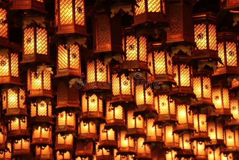 Hanging lanterns royalty free stock photos